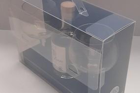 Transparante geschenk koffer